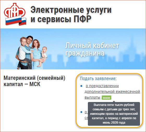 Как оформить выплату 5 тысяч рублей